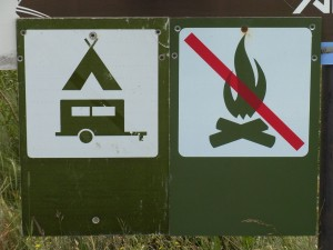 Camping allowed