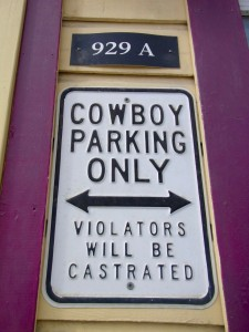 """Cowboy parking"""